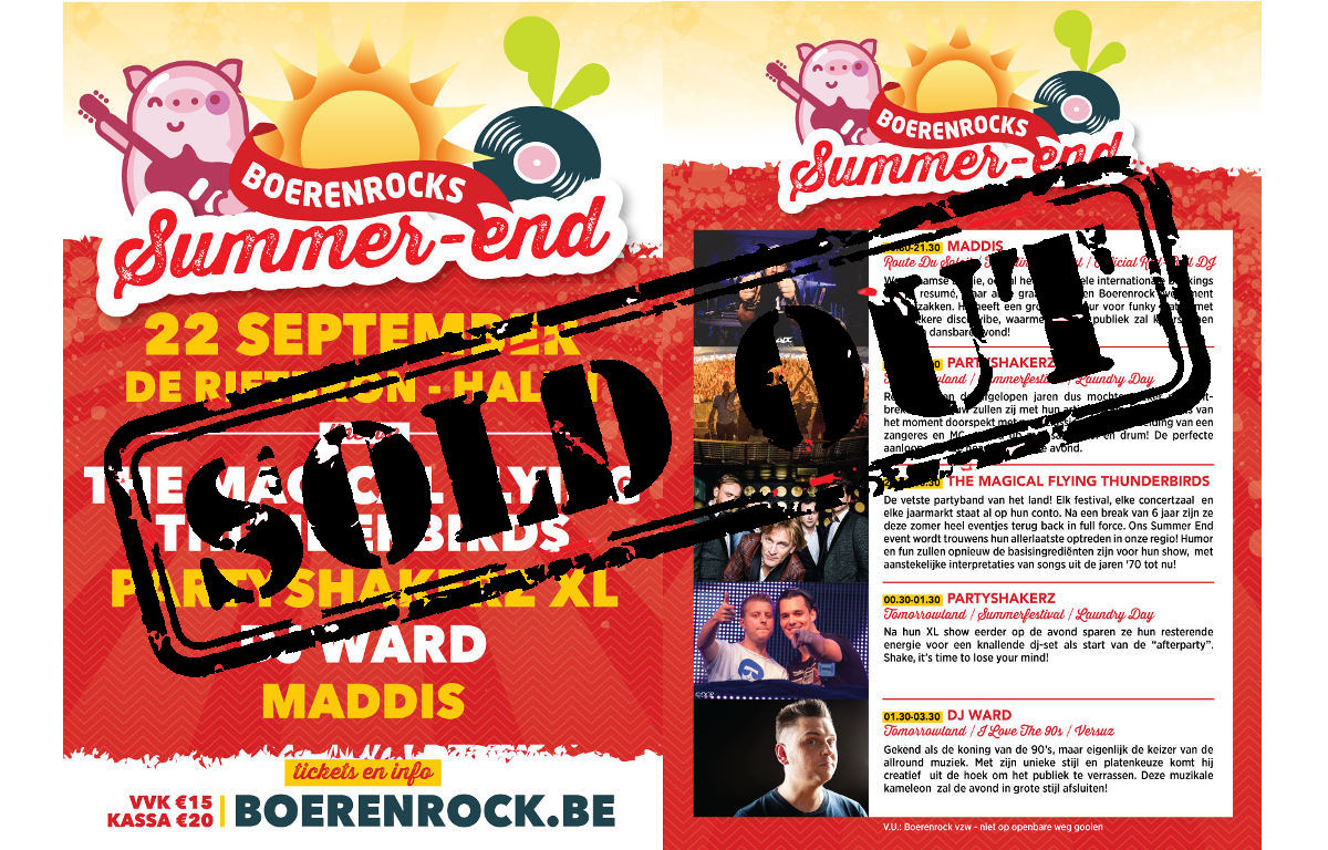 Summer-end sold out